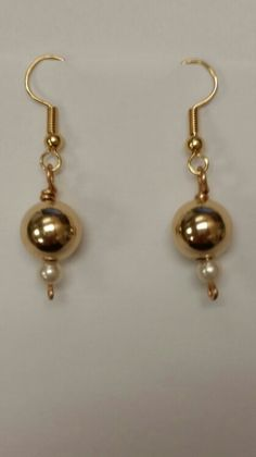 Renaissance Golden Drop Earrings
