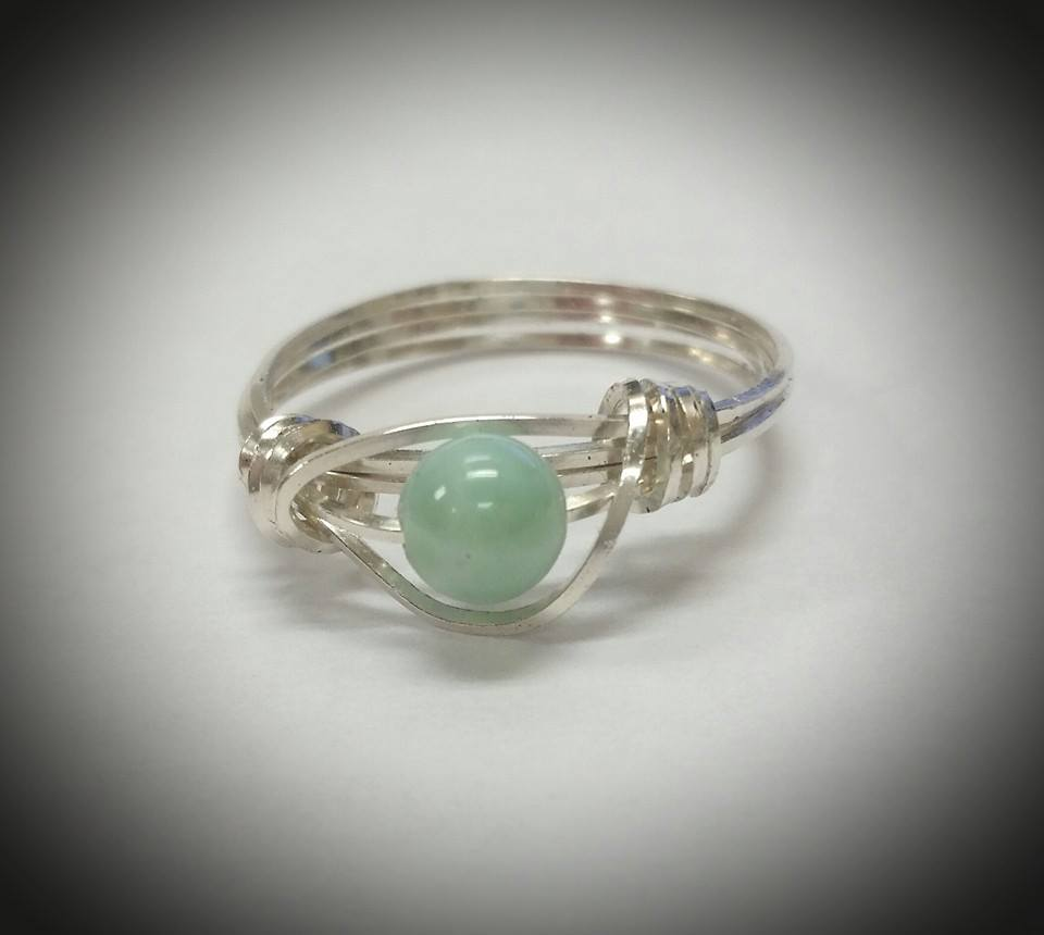 Another view of the Larimer Bead Ring