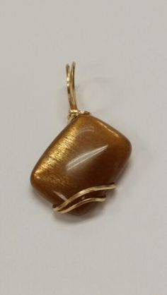 Sunstone in Gold Pendant