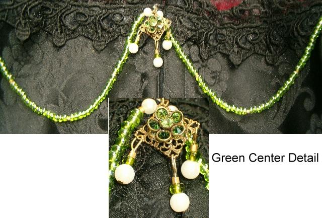 Green Flower Bodice Enhancement/ Necklace