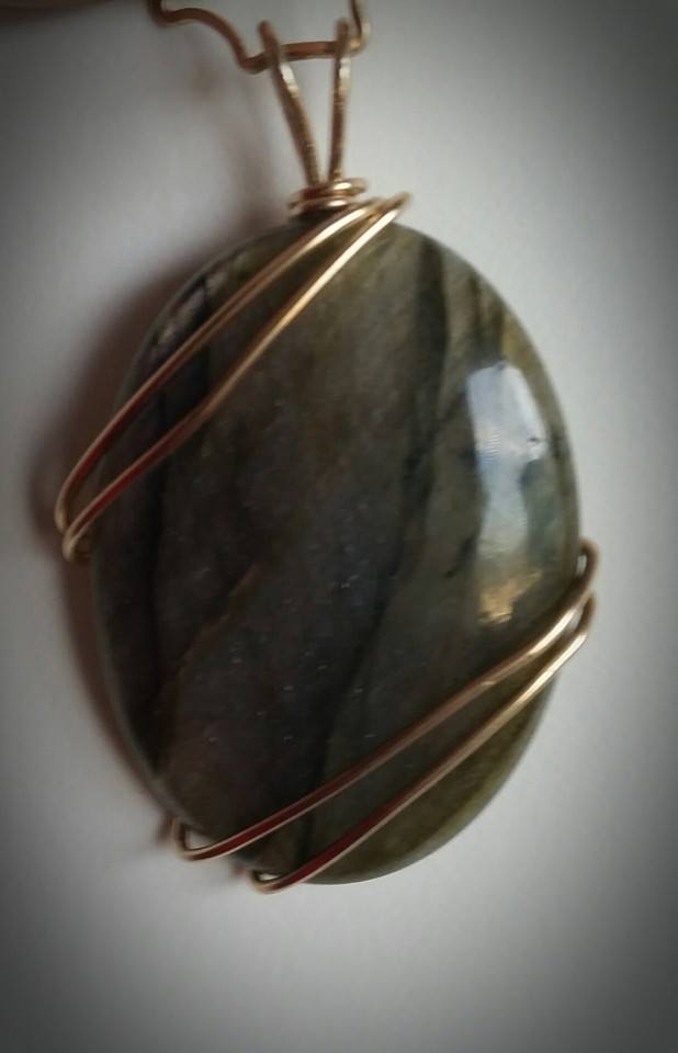 Pink Flash Labradorite straight on